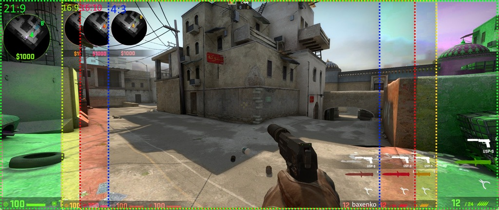 how to change cs go settings to stretched